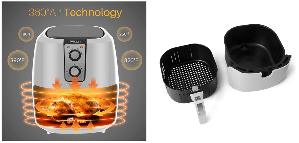 Della Electric Multipurpose Classic Rapid Air Fryer