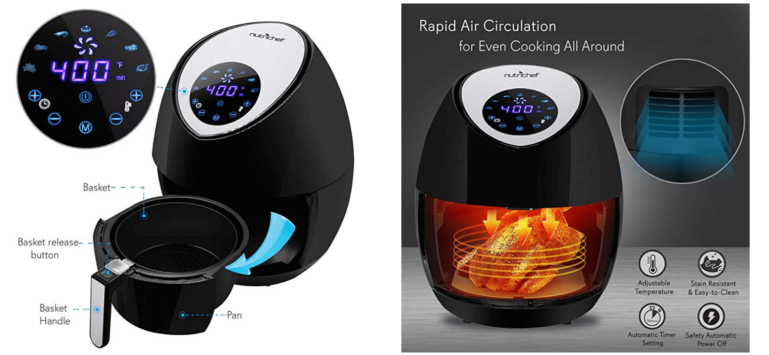 NutriChef Electric Hot Air Fryer Oven