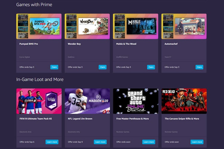 Twitch Prime Members Free Games and Content for August 2019