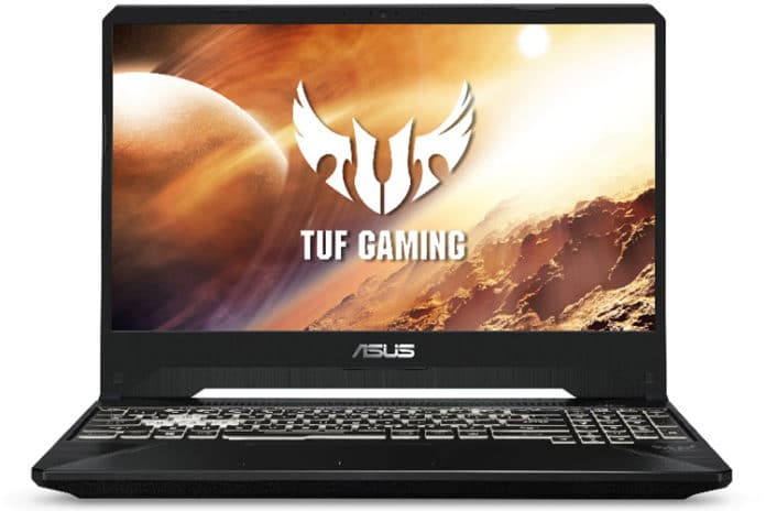 ASUS TUF gaming laptop with a Ryzen 7 processor, GTX 1650 card, 8GB of RAM and a 256GB SSD for just $750.