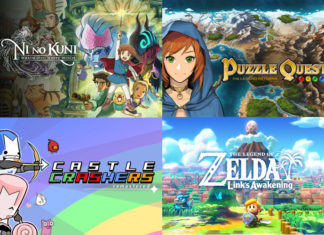 Puzzle Quest: The Legend Returns, Ni no Kuni: Wrath of the White Witch Remastered, The Legend of Zelda: Link's Awakening and Castle Crashers Remastered.
