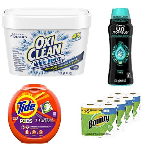 Cleaning Products - Oxi Clean, Tide, Bounty, Swiffer