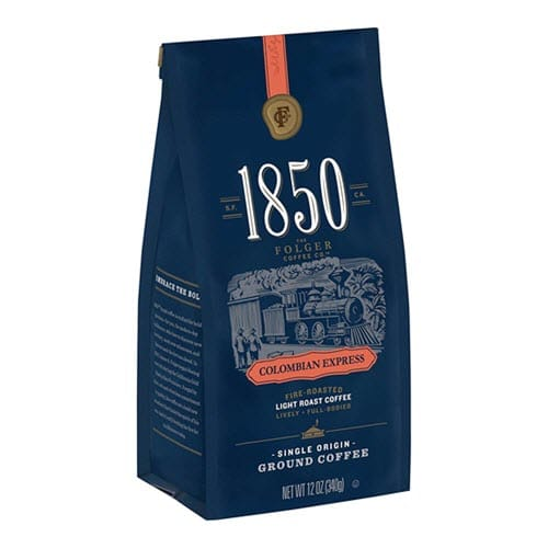 Folgers 1850 Colombian Express Light Roast Ground Coffee
