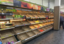 Food Shortage Empty Shelves