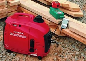 Honda EU1000i Portable Inverter Generator In Action