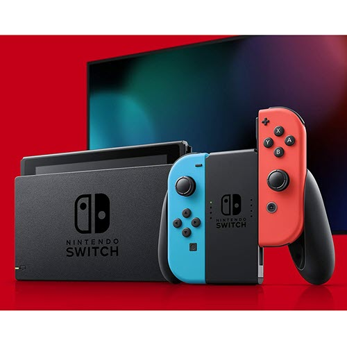 Nintendo Switch with Neon Blue and Neon Red Joy-Cons Review